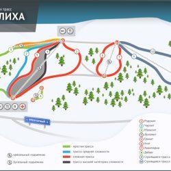 Трассы горнолыжного комплекса Завьялиха