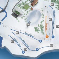 Трассы горнолыжного курорта «Уктус»