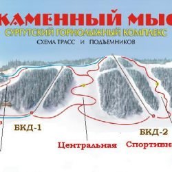 Трассы горнолыжного курорта «Каменный мыс»