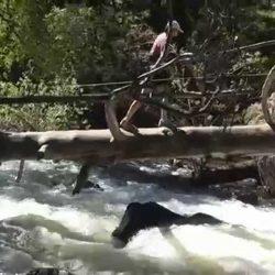 Водопад Учар. По большой воде