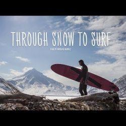 Зимний серфинг в краю вулканов