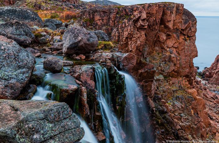 Самый знаменитый водопад Кольского полуострова