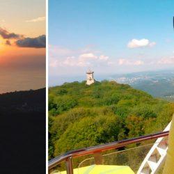 Лучшая смотровая площадка: Башня на горе Ахун днем, вечером, ночью